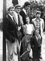 Harrison Ford, David Prowse, Carrie Fisher, Peter Mayhew, Kenny Baker, Mark Hamill на премьере V эпизода